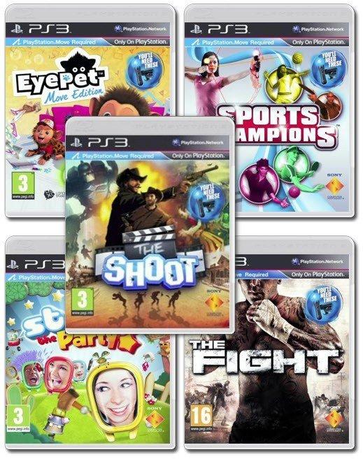 Игры, требующие наличия PS Move и PS Eye