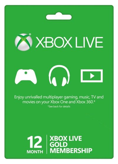 Xbox LIVE Gold 12 Month Card (12 месяцев) (конверт)