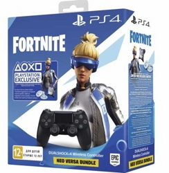 Геймпад DualShock 4 Wireless Controller Anthracite Black V2 (PS4) + Ваучер Fortnite Neo Versa