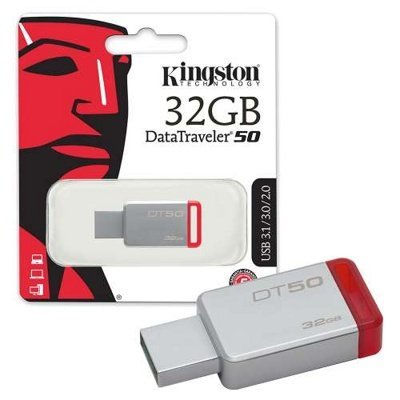 Флэш накопитель Kingston 32Gb Data Traveler 50 USB3.0